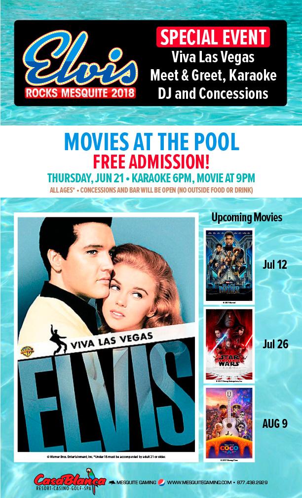 Entertainment casablanca resort and casino in mesquite for Pool show las vegas 2018