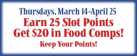 2X Slot Points!