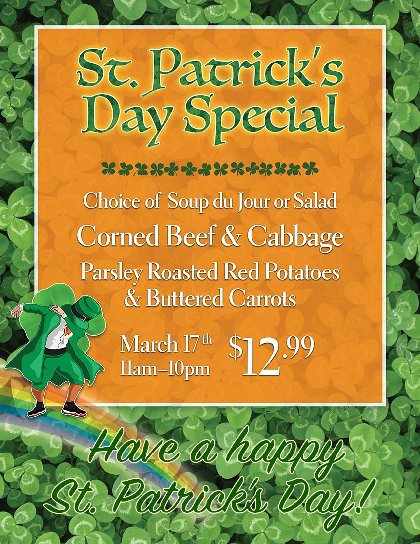 St. Patrick's Day Special Casa Cafe